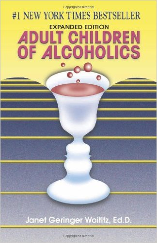 picture of a book titled adult children of alcoholics