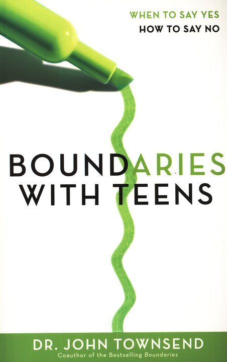 picture of a book titled boundaries with teens