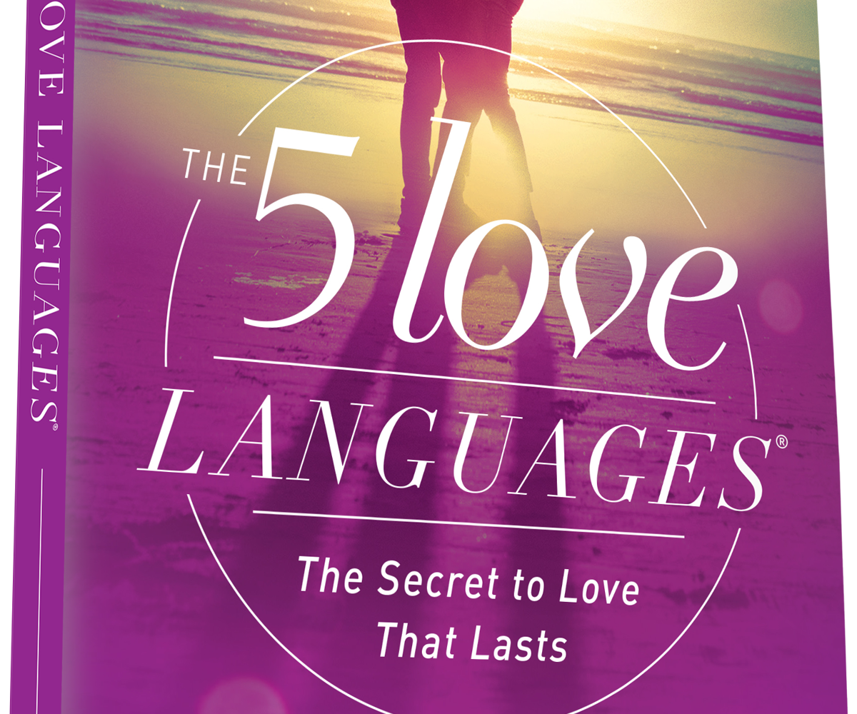 picture of a book titled the five love languages