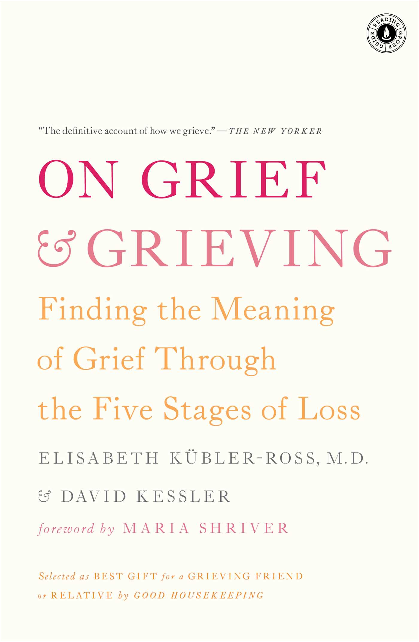picture of a book titled on grief and grieving